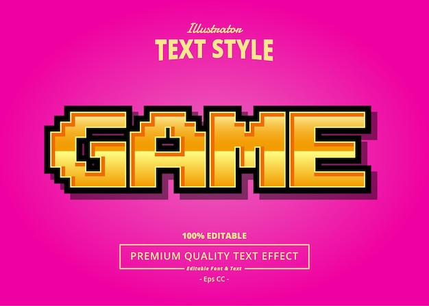 Effet de texte d'illustrateur de jeu