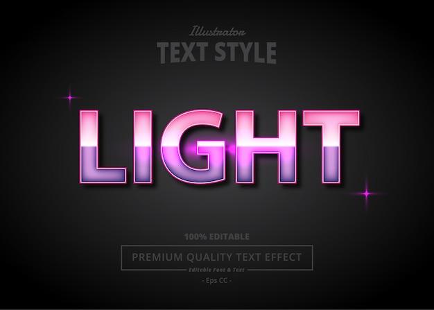 Effet de texte illustrateur de lumière