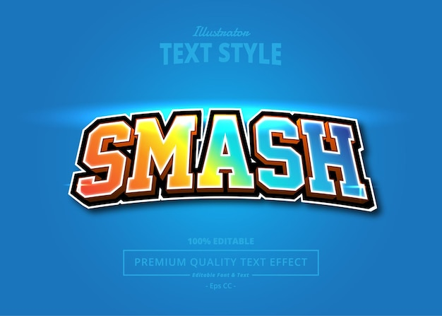 Effet de texte illustrateur smash