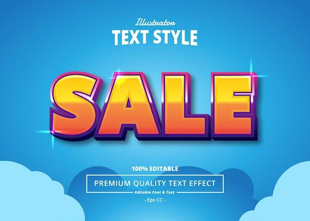 Effet de texte illustrateur de vente