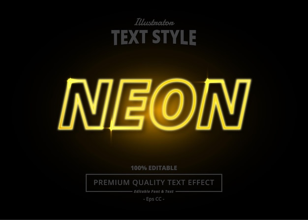 Effet de texte illustrator neon