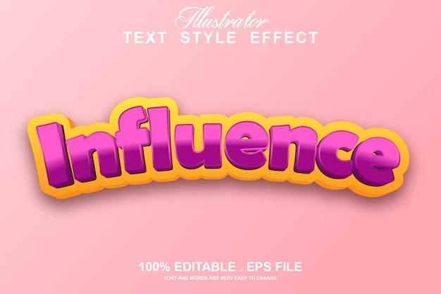Effet de texte d'influence modifiable
