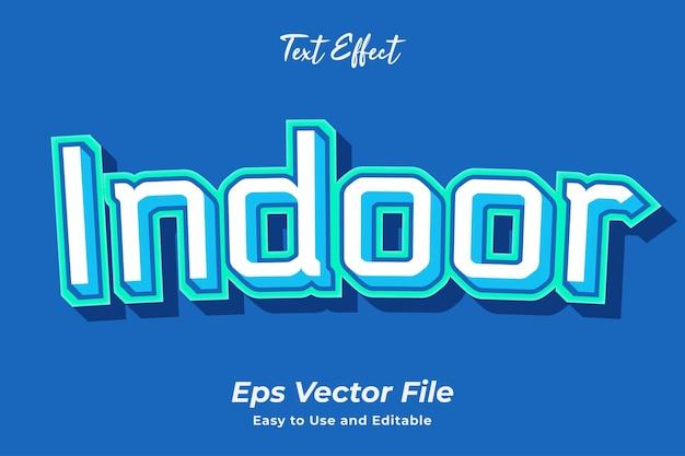 Effet de texte intérieur modifiable et facile à utiliser vecteur premium