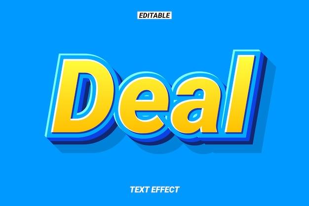 Effet de texte jaune et bleu gras