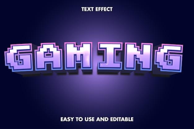 Effet de texte de jeu. style de police modifiable.