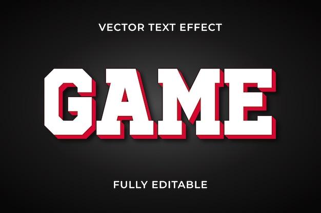 Effet de texte de jeu