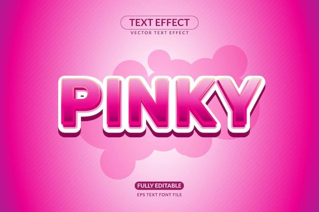 Effet de texte des jeux féminins roses modifiables