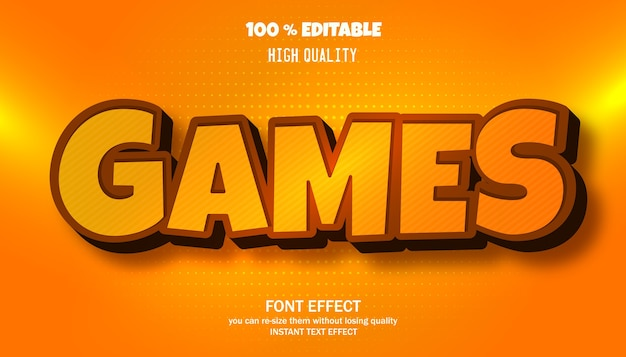 Effet de texte de jeux. police modifiable