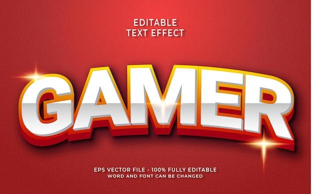 Effet de texte de joueur créatif