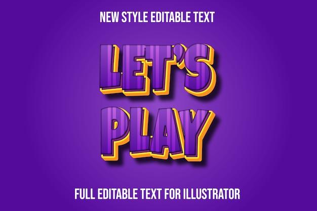 Effet de texte jouons le dégradé de couleur violet et jaune