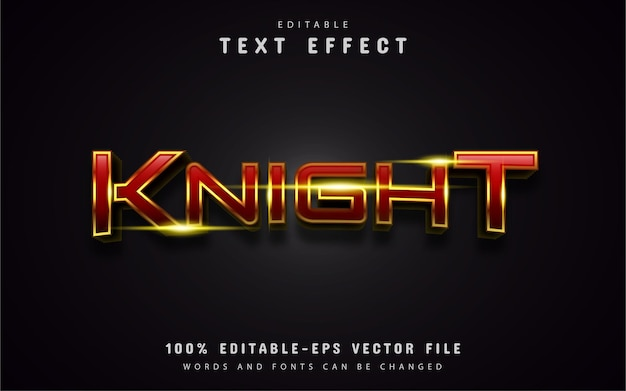 Effet de texte knight modifiable