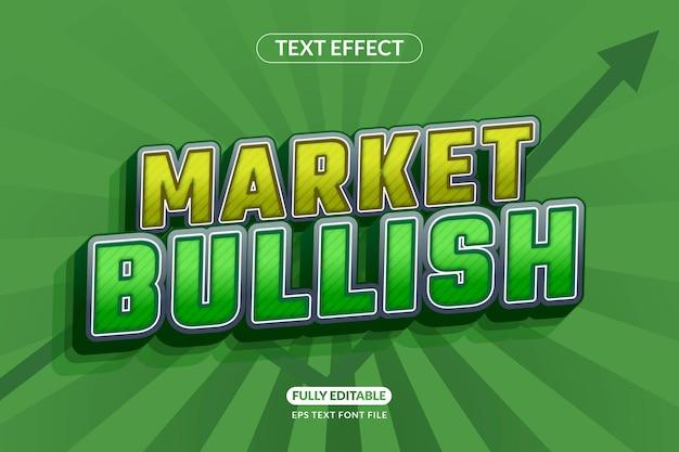 Effet de texte libre du marché boursier haussier