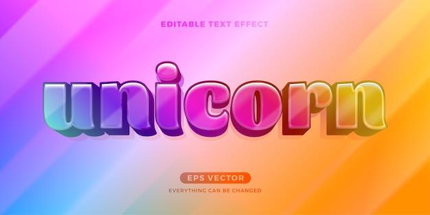 Effet De Texte Licorne Vecteur Premium