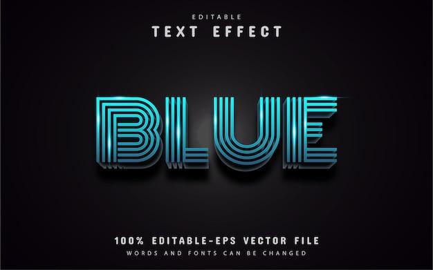 Effet de texte de ligne bleue