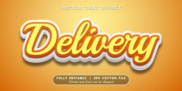 Effet de texte de livraison, style de texte modifiable