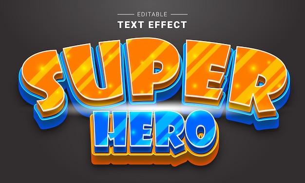 Effet de texte de logo de jeu modifiable pour illustrateur