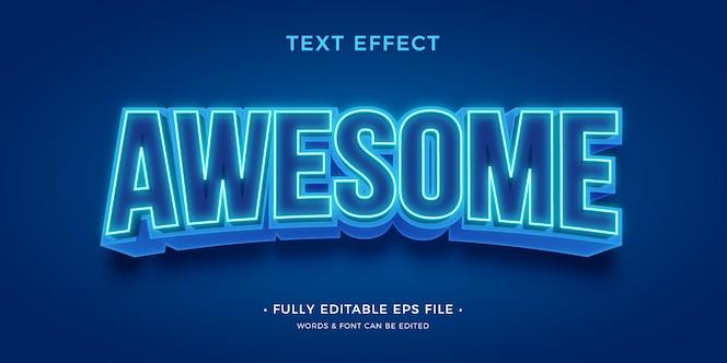 Effet de texte lumineux moderne