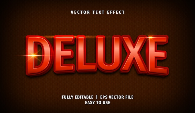 Effet de texte de luxe 3d, style de texte modifiable