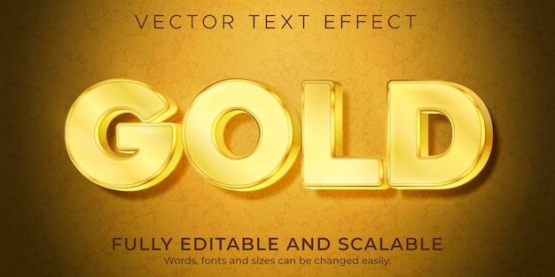Effet de texte de luxe doré, style de texte brillant et élégant modifiable