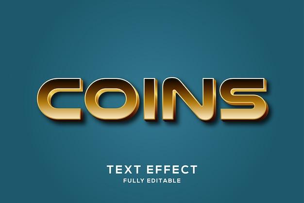 Effet de texte de luxe en or moderne