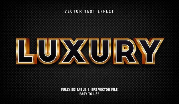 Effet de texte de luxe, style de texte modifiable