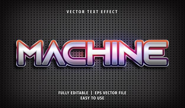 Effet de texte machine style de texte modifiable