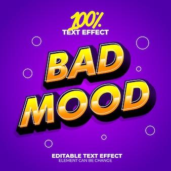 Effet de texte de mauvaise humeur