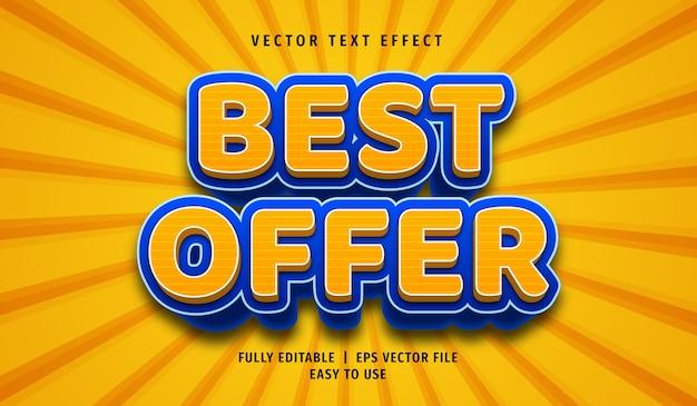 Effet de texte de meilleure offre 3d, style de texte modifiable