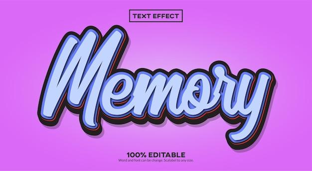 Effet de texte de mémoire