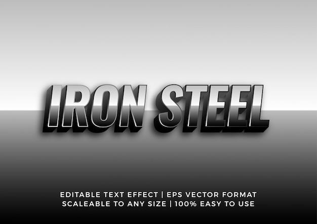 Effet de texte métal acier chromé