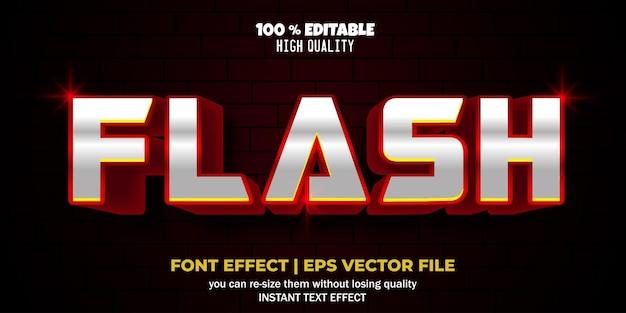 Effet de texte métallique modifiable style de texte élégant et luxueux