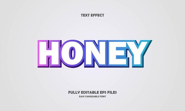 Effet de texte de miel