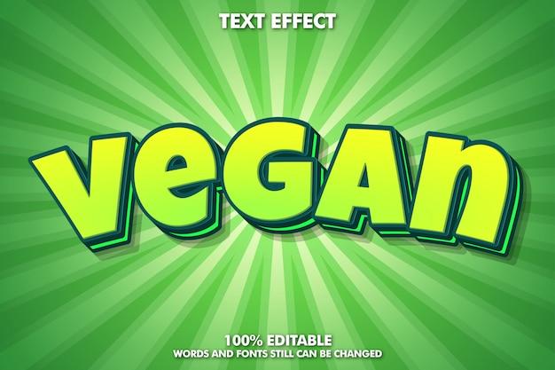 Effet de texte mignon dessin animé vert