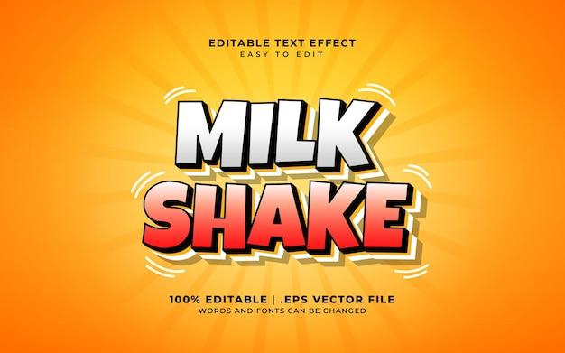 Effet de texte de milk-shake