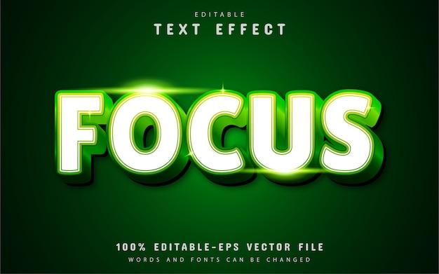 Effet de texte de mise au point avec dégradé vert
