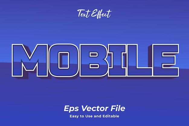 Effet de texte mobile modifiable et facile à utiliser vecteur premium