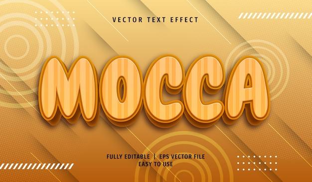 Effet de texte mocca 3d, style de texte modifiable