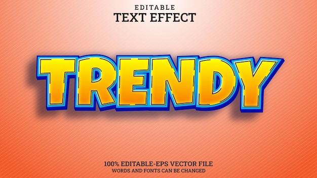 Effet de texte à la mode modifiable