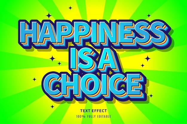 Effet de texte moderne de bonheur