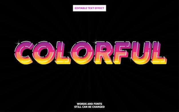 Effet de texte moderne et coloré