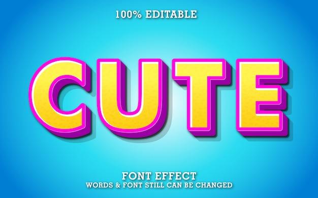 Effet de texte moderne avec des couleurs mignonnes