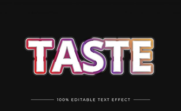 Effet de texte moderne avec dégradé de couleur