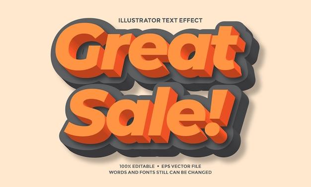 Effet de texte moderne orange et noir ou modèle de style alphabet police