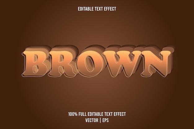 Effet de texte modifiable en 3 dimensions marron couleur marron