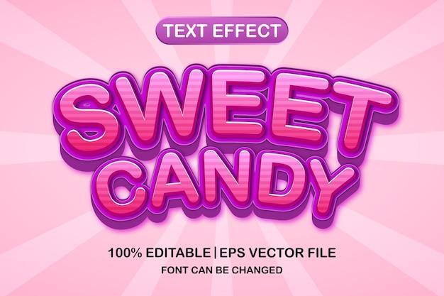 Effet de texte modifiable en 3d de bonbons sucrés
