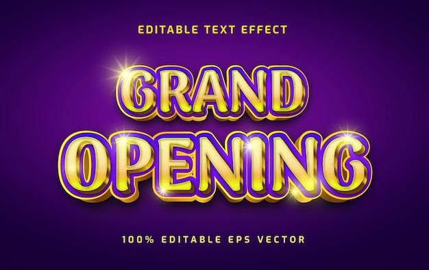Effet de texte modifiable en 3d de la cérémonie d'ouverture d'or de luxe