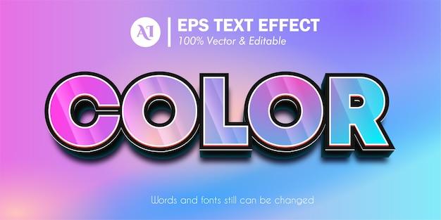 Effet de texte modifiable 3d coloré
