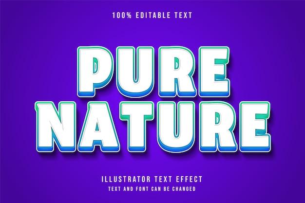 Effet de texte modifiable 3d dégradé vert style d'ombre moderne bleu