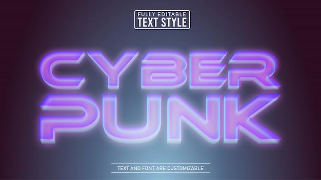 Effet de texte modifiable 3d holographique cyberpunk