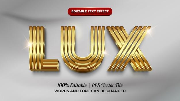 Effet de texte modifiable en 3d de luxe doré